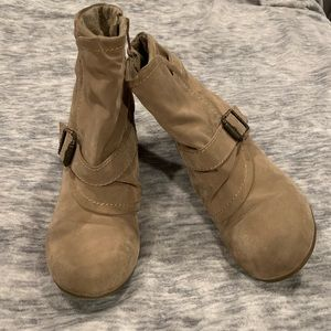 Blowfish Shoes - Tan belted booties